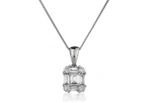 LADIES DIAMOND PENDANT AND CHAIN 0.30CT REF:GP475