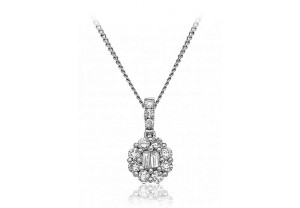 LADIES DIAMOND PENDANT AND CHAIN 0.25CT REF:GP366