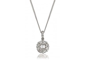 LADIES DIAMOND PENDANT AND CHAIN 0.50CT REF:GP367