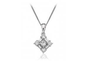LADIES DIAMOND PENDANT AND CHAIN 0.50CT REF:GP476