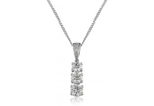 LADIES DIAMOND PENDANT AND CHAIN  0.75CT REF:GP180