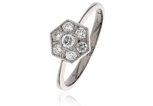 LADIES  ROUND BRILLIANT CUT DIAMOND RING 0.40CT  REF:GP978