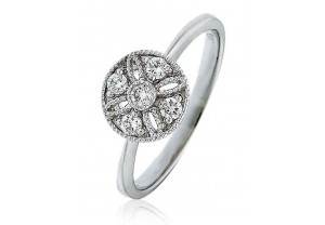 LADIES  ROUND BRILLIANT CUT DIAMOND RING 0.20CT REF:GP983