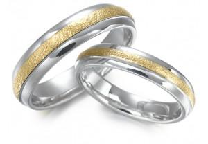 LADIES 2-TONE WEDDING RING REF:GP2148
