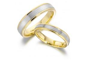 LADIES 2-TONE WEDDING RING  REF:GP2154