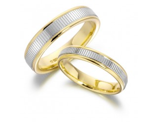 GENTS 2-TONE WEDDING RING REF:GP2155
