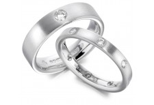 GENTS MATT AND DIAMOND SET WEDDING RING 0.12CT REF:GP2201