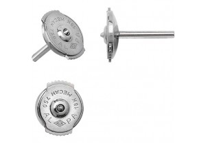 LADIES PLATINUM 950 SPRING LOCK EARRING BACKS 7MM REF:GP3409