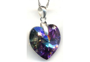 LADIES CRYSTAL PENDANT AND CHAIN REF:GP3412