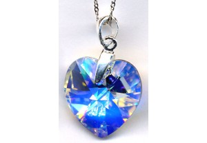 LADIES CRYSTAL PENDANT AND CHAIN REF:3413