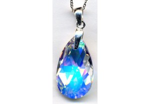 LADIES CRYSTAL PENDANT AND CHAIN REF:GP3411