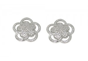 DIAMONESQUE SILVER EARRINGS REF:GP3195