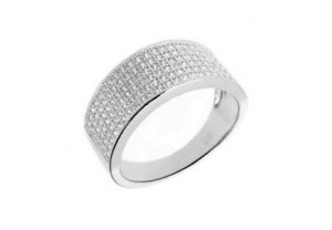 DIAMONESQUE SILVER RING REF:GP3194