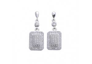 DIAMONESQUE SILVER EARRINGS REF:GP3198