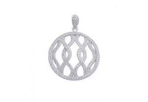 DIAMONESQUE SILVER PENDANT REF:GP3203
