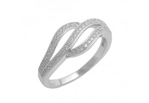 DIAMONESQUE SILVER RING REF:GP3204