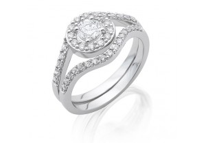 VINTAGE STYLE DIAMOND ENGAGEMENT & WEDDING RING SETS 0.15CT  - REF:GP2413