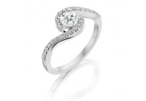 VINTAGE STYLE DIAMOND ENGAGEMENT & WEDDING RING SETS 0.75CT  - REF:GP2414