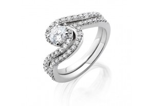 VINTAGE STYLE DIAMOND ENGAGEMENT & WEDDING RING SETS 0.20CT  - REF:GP2415