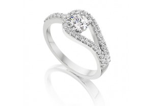 VINTAGE STYLE DIAMOND ENGAGEMENT & WEDDING RING SETS 0.75CT  - REF:GP2416
