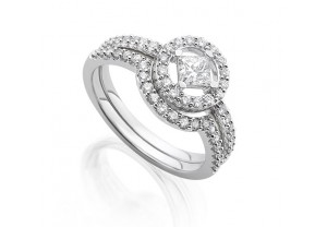 VINTAGE STYLE DIAMOND ENGAGEMENT & WEDDING RING SETS 0.17CT  - REF:GP2419