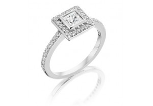 VINTAGE STYLE DIAMOND ENGAGEMENT & WEDDING RING SETS 0.75CT  - REF:GP2422