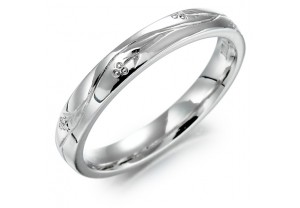 LADIES PATTERNED WEDDING RING  REF:GP2224