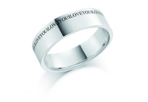 LADIES ENGRAVED WEDDING RING REF:GP2226