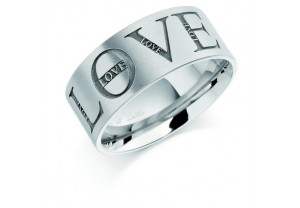 LADIES ENGRAVED WEDDING RING  REF:GP2230
