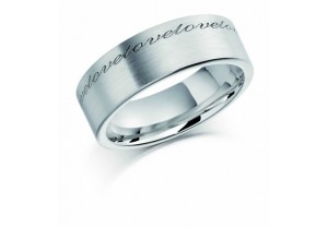 LADIES ENGRAVED WEDDING RING REF:GP2231