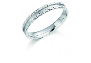 LADIES PATTERNED WEDDING RING  REF:GP2232