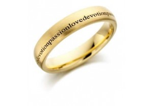LADIES ENGRAVED WEDDING RING REF:GP2235