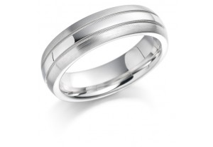 LADIES PATTERNED WEDDING RING REF:GP2236