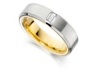 LADIES 2-TONE DIAMOND WEDDING RING  0.20CT REF:GP2252