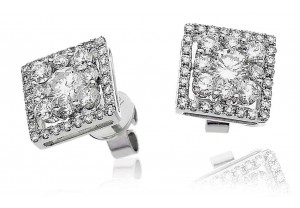 LADIES DIAMOND EARRINGS 1.50CT REF:GP1037