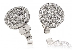 LADIES  DIAMOND EARRINGS 0.60CT REF:GP1192