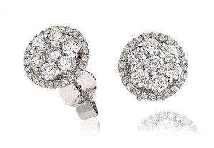 LADIES  DIAMOND EARRINGS 1.00CT REF:GP1179