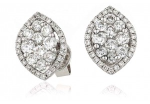 LADIES  DIAMOND EARRINGS 0.90CT REF:GP1193