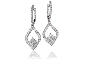 LADIES DIAMOND EARRINGS 1.00CT REF:GP1051