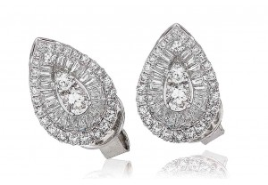LADIES  DIAMOND EARRINGS 1.30CT REF:GP1146