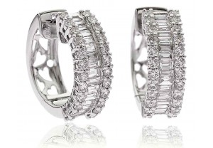 LADIES DIAMOND HUGGIE EARRINGS 2.50CT REF:GP1061