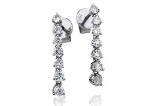 LADIES  DIAMOND EARRINGS 0.75CT REF:GP1172