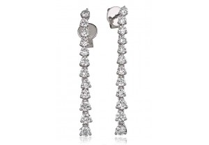 LADIES  DIAMOND EARRINGS 1.25CT REF:GP1173