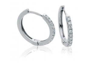 LADIES DIAMOND HOOP EARRINGS 0.20CT REF:GP3125