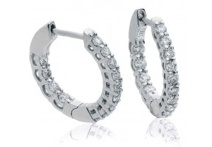 LADIES DIAMOND HOOP EARRINGS 0.50CT REF:GP3126