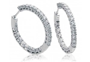 LADIES DIAMOND HOOP EARRINGS 2.00CT REF:GP3128