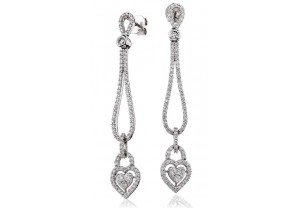 LADIES DIAMOND EARRINGS     2.25CT     REF:GP551