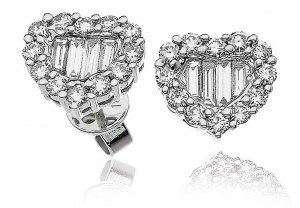 LADIES DIAMOND EARRINGS    1.00 CT     REF:GP553