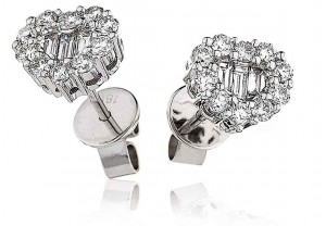 LADIES DIAMOND EARRINGS     0.75CT     REF:GP555