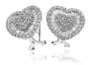 LADIES DIAMOND EARRINGS     2.65CT     REF:GP534